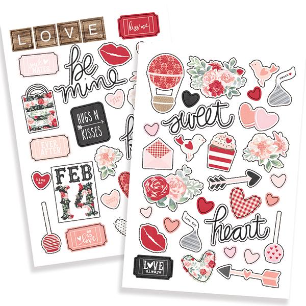 מדבקות פאף - Kissing Booth Puffy Stickers