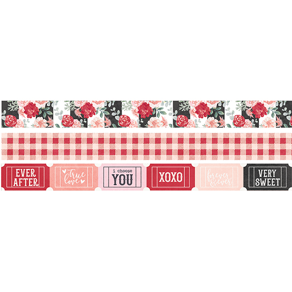 מארז וואשי טייפ - Kissing Booth Washi Tape