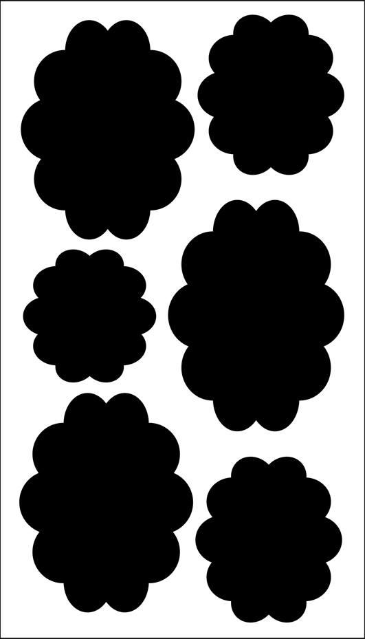 מדבקות לוח גיר - עננים