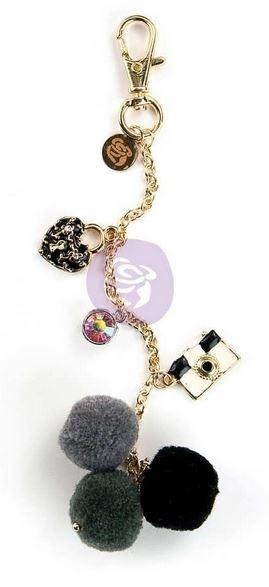 My Prima Planner Embellishments - Lock & Key Pom Pom Key Chain