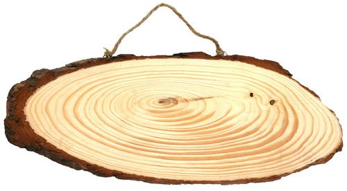 פרוסת עץ אובלית