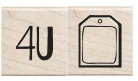 זוג חותמות עץ קטנות - 4U