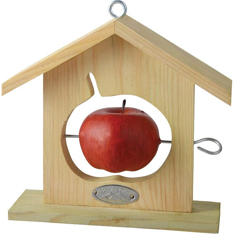 מתקן האכלה מעץ - דגם תפוח