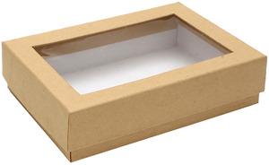 קופסת קראפט קשיחה עם חלון