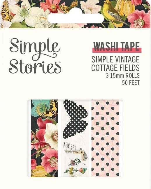 מארז וואשי טייפ - Simple Vintage Cottage Fields Washi Tape