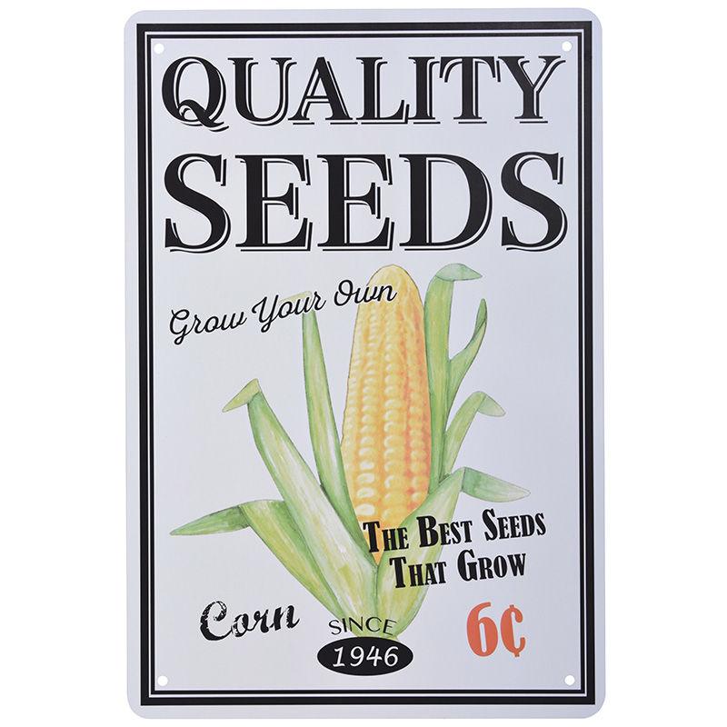 שלט מתכת קטן Quality Seeds - תירס