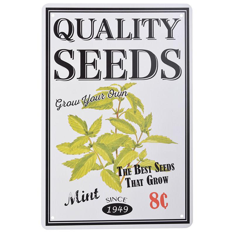שלט מתכת קטן Quality Seeds - נענע