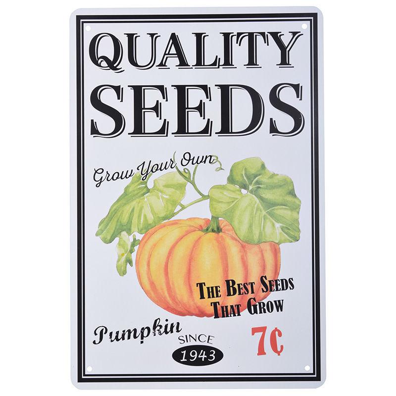 שלט מתכת קטן Quality Seeds - דלעת