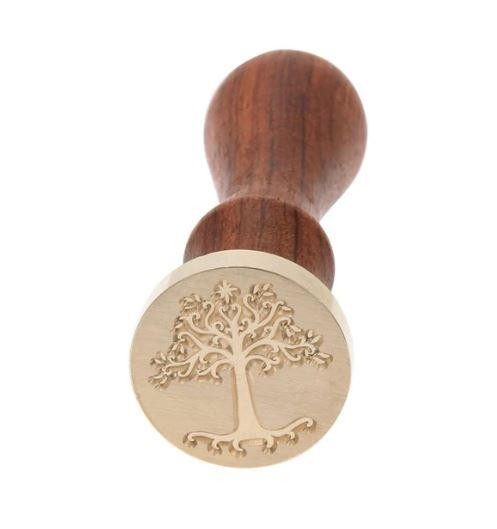חותם שעווה עם ידית עץ - עץ קטן
