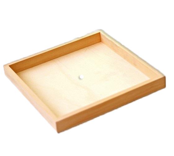 מסגרת עומק מעץ עם חור במרכז