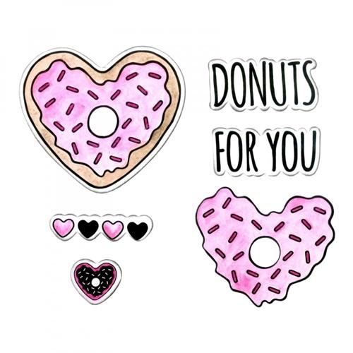 סט תבניות חיתוך וחותמות - Donuts for You