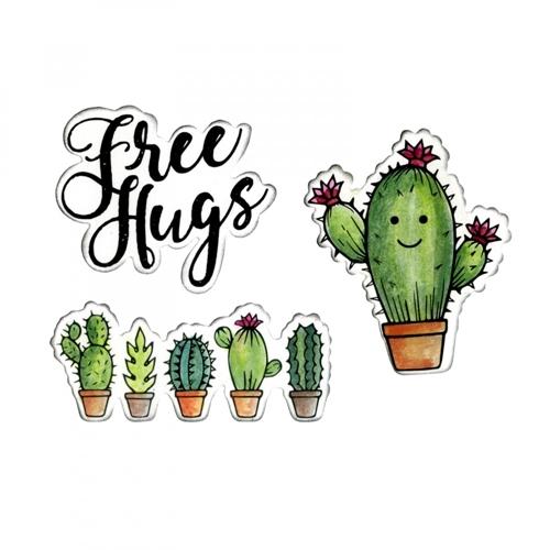 סט תבניות חיתוך וחותמות - Sending Hugs