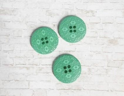 מארז כפתורים - כפתור ירוק מצויר גדול