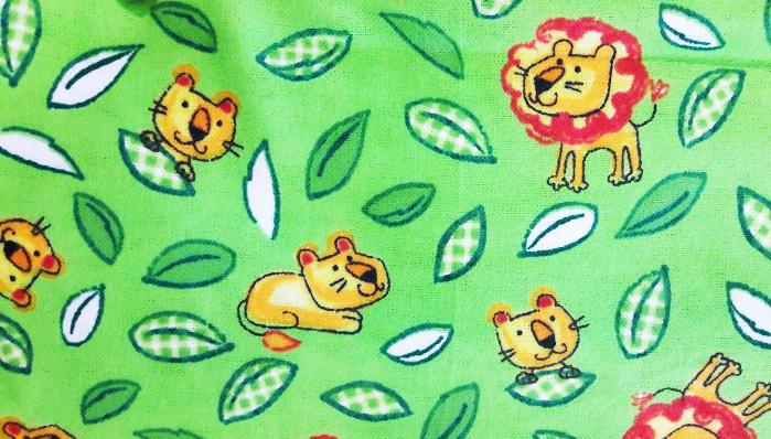 רבע שמן - פלנל - אריות