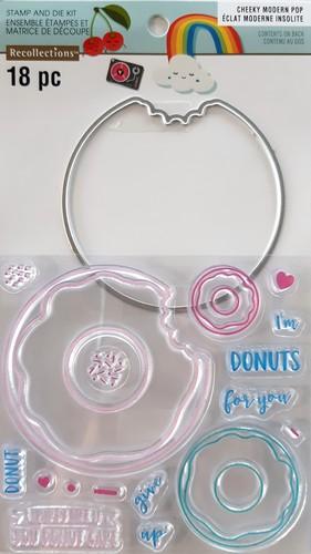 סט תבנית חיתוך וחותמות - Donuts