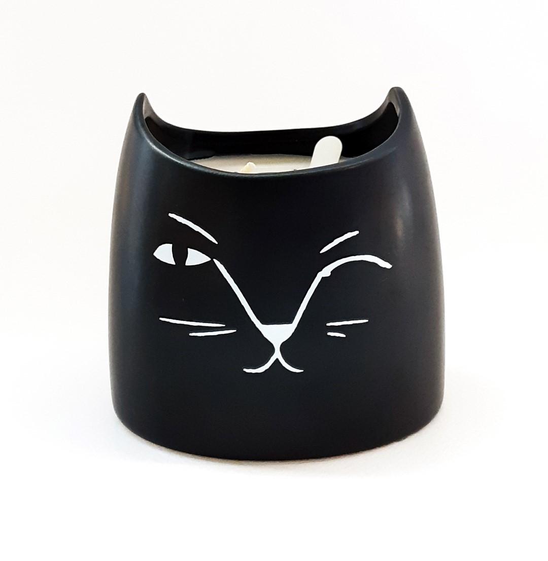 נר בכלי חתול - Vanilla Bean