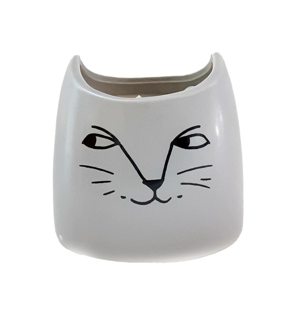 נר בכלי חתול - Sandalwood
