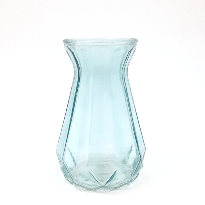 אגרטל זכוכית תכלת