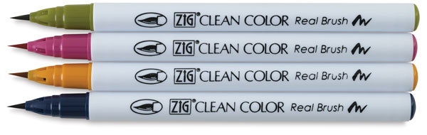 Zig Real Brush - Deep Colors Set of 4