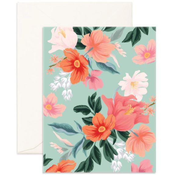 מארז מעטפות וכרטיסיות- Wild Mint Blank Greeting Card Boxed Set