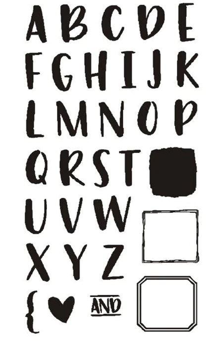 סט חותמות סיליקון- Alphabet