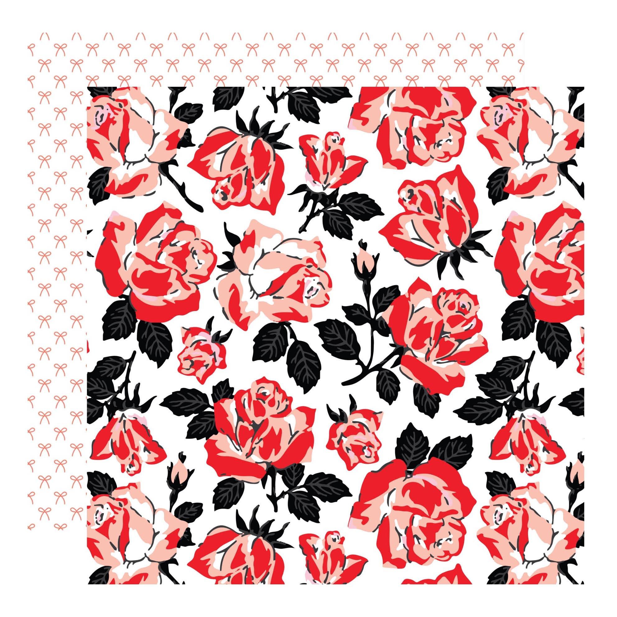 דף קארדסטוק- מדגדג לי בבטן- פרחים ופפיונים