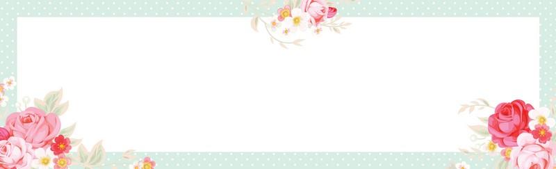 """פנקס ממו 10X33 ס""""מ- פרחים על מסגרת מנטה נקודות"""