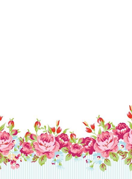 """פנקס ממו 17X12.5 ס""""מ- פרחים עם רקע לבן"""