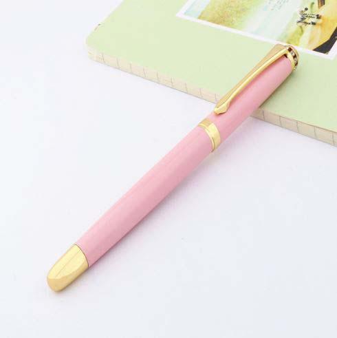 עט נובע ראש ציפורן בצבע ורוד