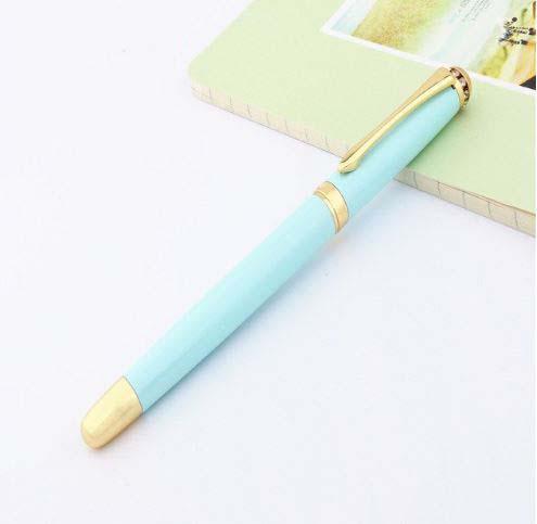 עט נובע ראש ציפורן בצבע תכלת