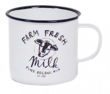 כוס אמייל - Farm Fresh Milk