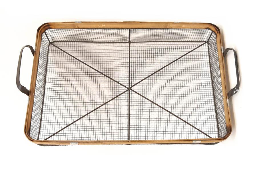 מגש רשת בינוני בעל מסגרת במבוק