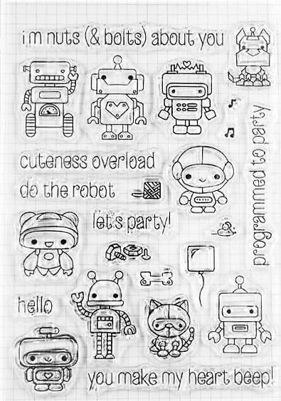 סט חותמות סיליקון - The robot
