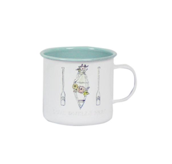 כוס אמייל - שייט רומנטי