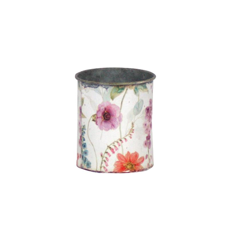 פחית קטנה עם הדפס - פרחים