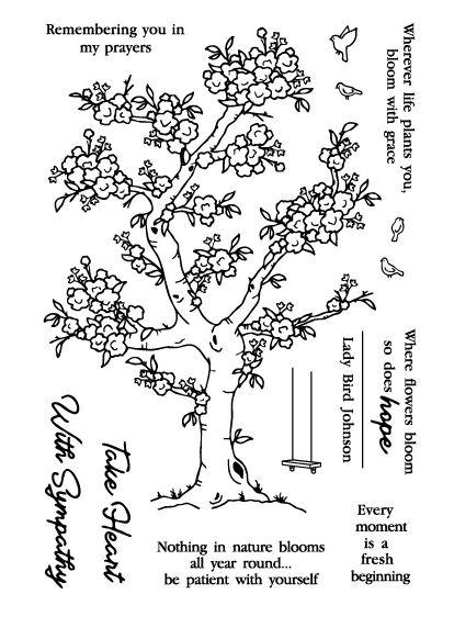 סט חותמות סיליקון - Spring Bloom
