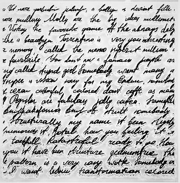 חותמת סיליקון - מכתב ישן