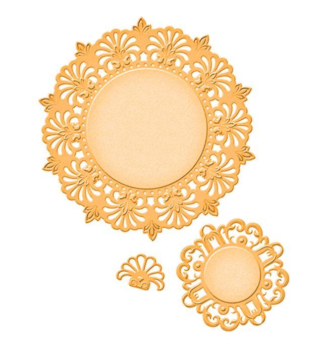 סט תבניות חיתוך - Doily Circles