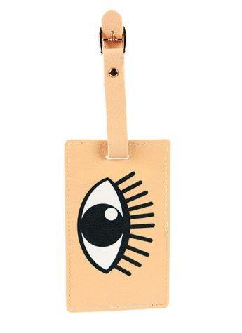 תג דמוי עור למזוודה - עיניים