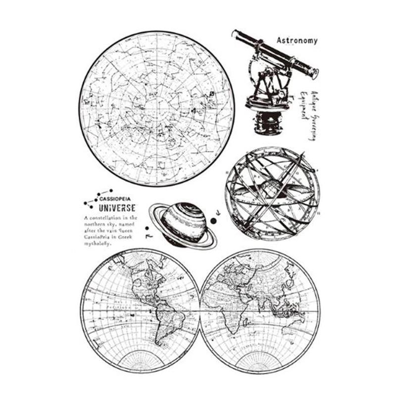 סט חותמות סיליקון - Astronomy