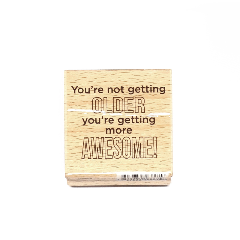 חותמת עץ - You're AWESOME