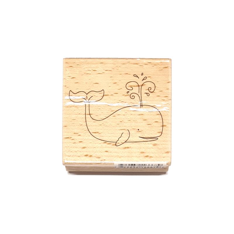 חותמת עץ - Whale
