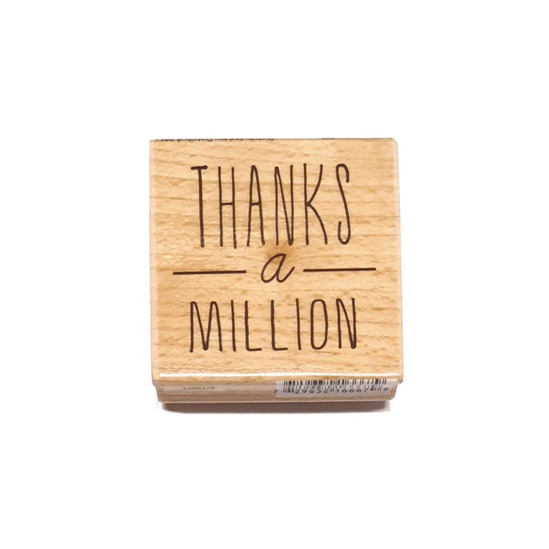 חותמת עץ - Thanks