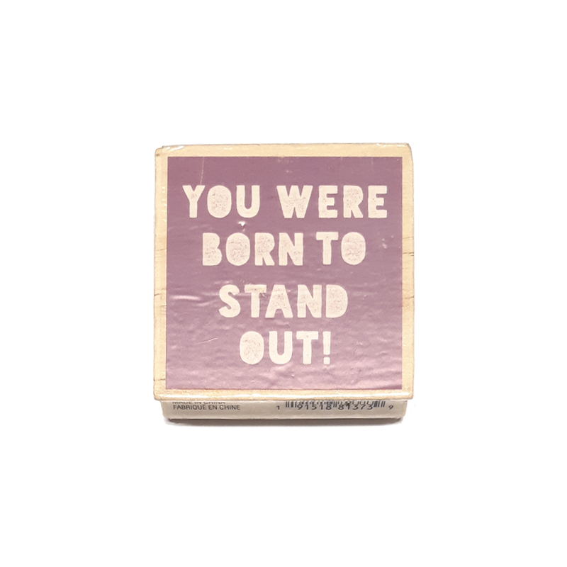 חותמת עץ - Stand out