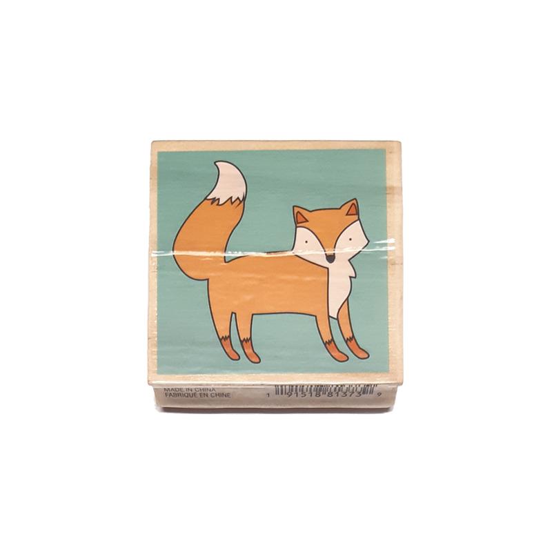 חותמת עץ - fox