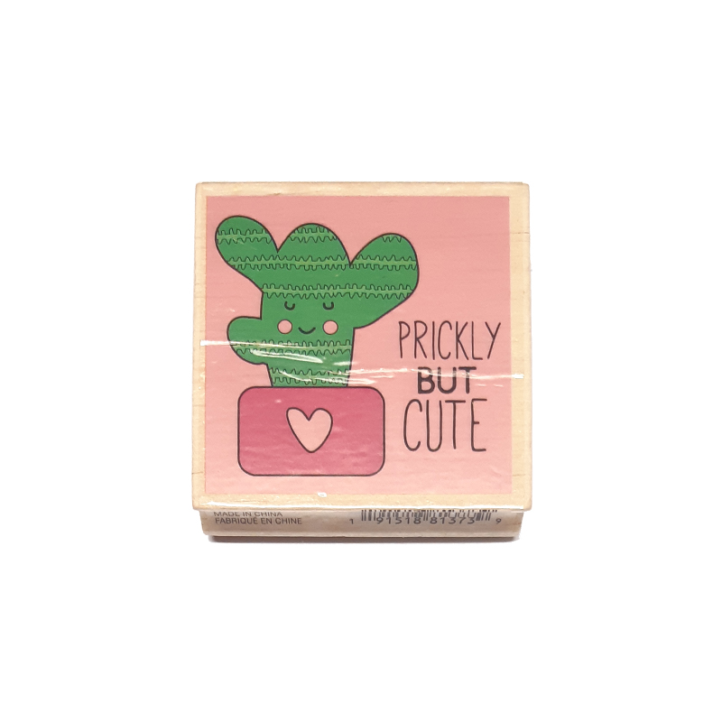 חותמת עץ - Prickly but cute