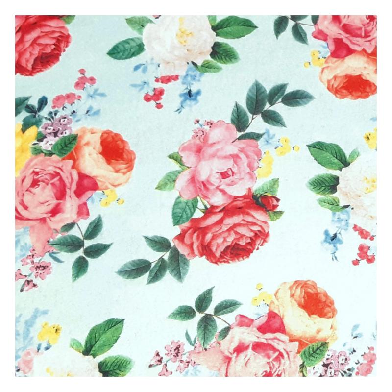 גיליון לבד - Felt - roses on aqua