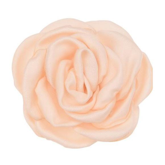 פרח בד סאטן גדול - כתום פודרה