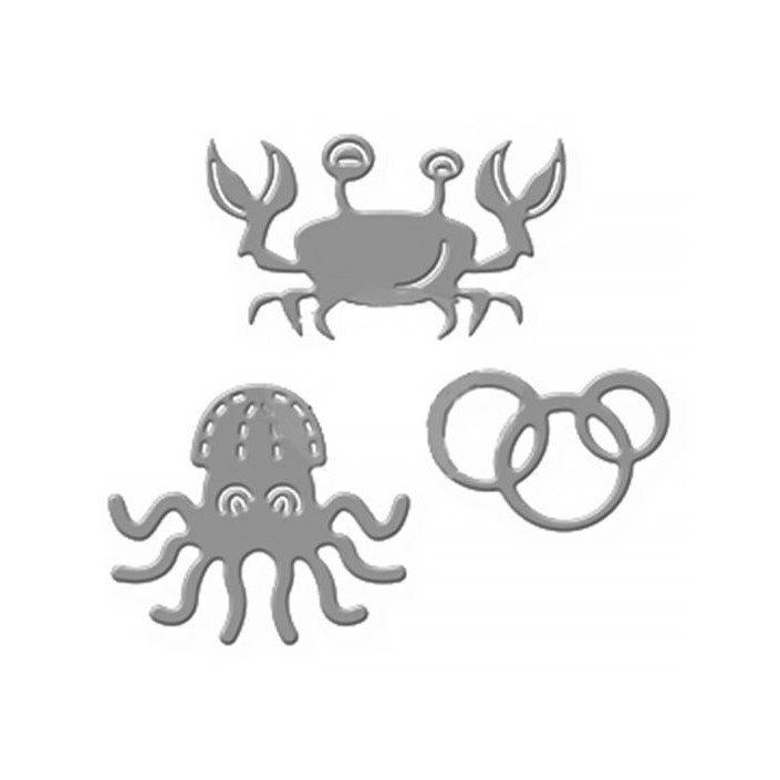 סט תבניות חיתוך - Crab and Octopus