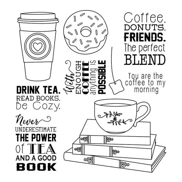 סט חותמות סיליקון - Coffee and Donuts